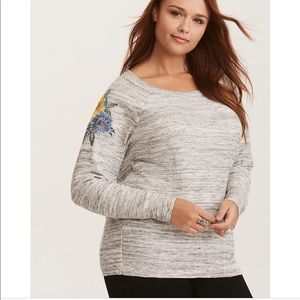 Torrid | Space Dye Embroidered Sweater